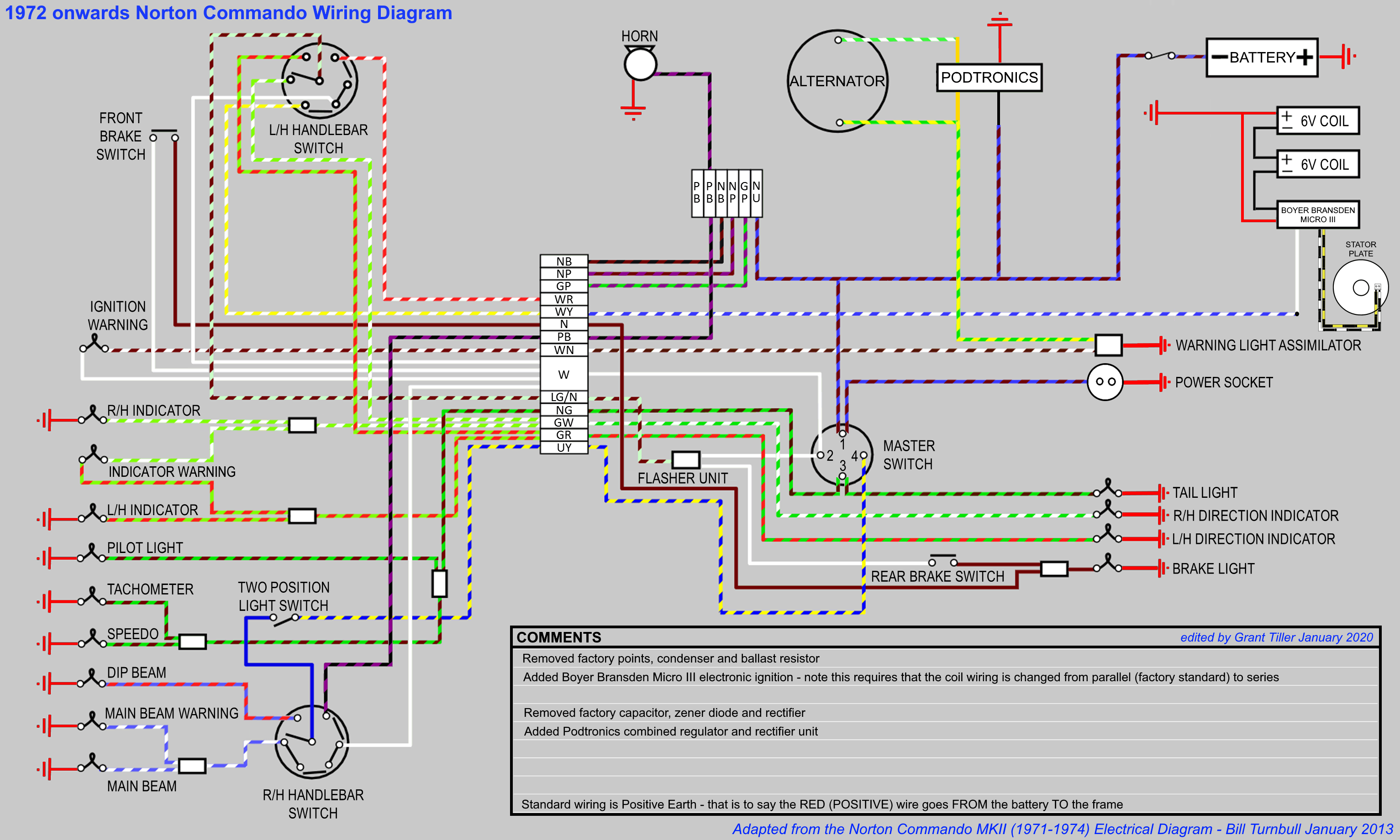 Commando Wiring Diagram Boyer Podtronics