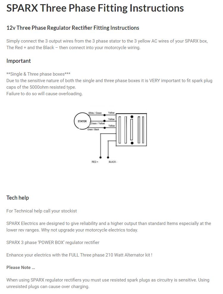 Commando Wiring Diagram + Boyer + Sparx 3 phase   Sparx Wiring Diagram      Grant Tiller